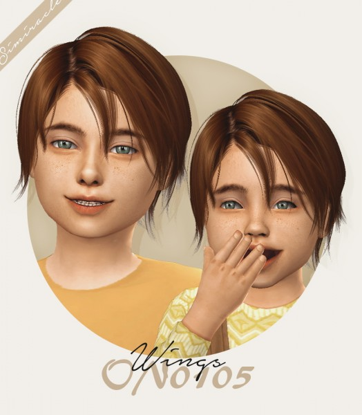 Simiracle: Wings ON0105 hair retextured for Sims 4