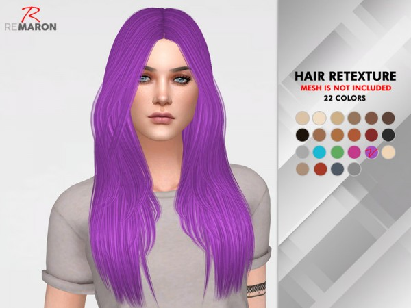 The Sims Resource: LeahLillith`s Emily Hair Retextured by remaron for Sims 4