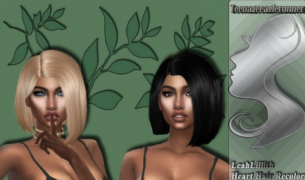 The Sims Resource: Heart Hair Recolored by Teenageeaglerunner for Sims 4