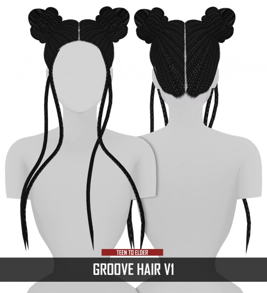 Coupure Electrique: Groove hair v1 for Sims 4