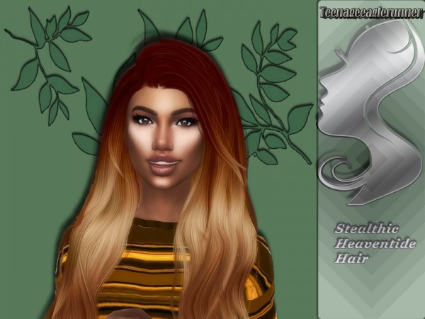 The Sims Resource: Heaventide Hair Recolored by Teenageeaglerunner for Sims 4