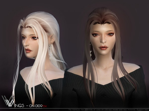 The Sims Resource: WINGS ON0109 hair for Sims 4