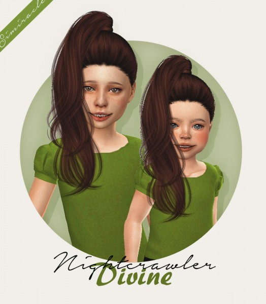 Simiracle: Nightcrawler`s Divine hair retextured   kids and toddlers version for Sims 4