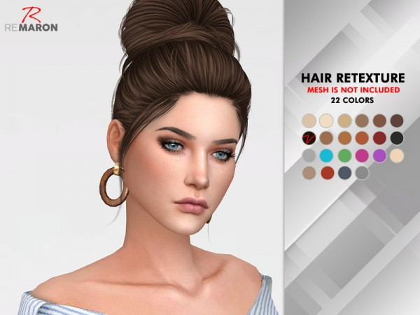 The Sims Resource: Flirt Hair Retextured by Remaron for Sims 4