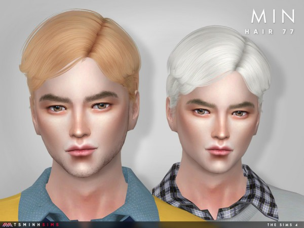 The Sims Resource: Min Hair 77 by TsminhSims for Sims 4