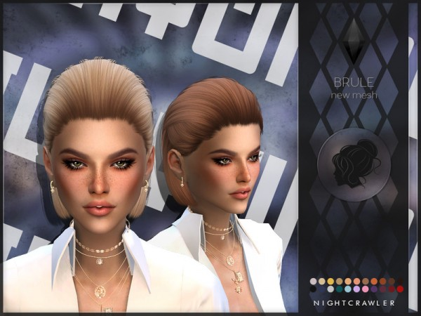 The Sims Resource: Brule hair by Nightcrawler Sims for Sims 4
