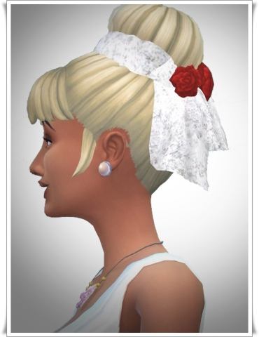 Birksches sims blog: Lacey Wedding Bun for Sims 4