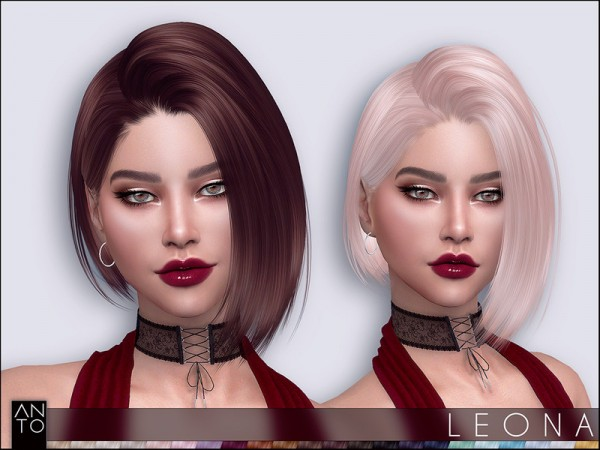 The Sims Resource: Leona hair by Anto for Sims 4