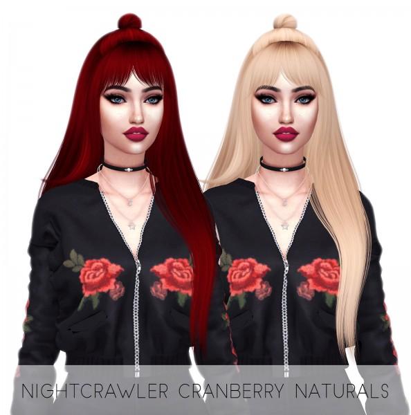 Kenzar Sims: Cranberry Hair Retextured for Sims 4