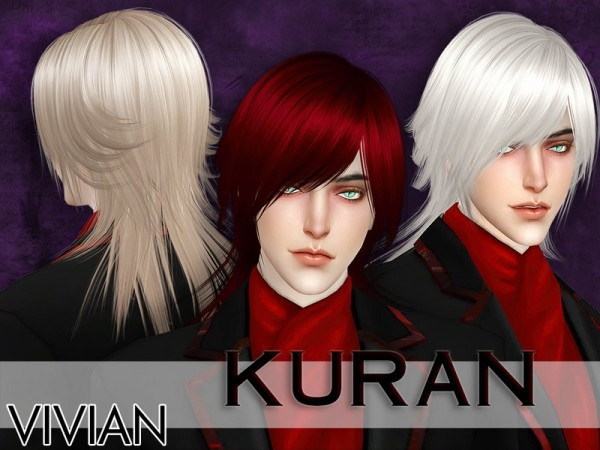 The Sims Resource: Hair Kuran by VivianDang for Sims 4