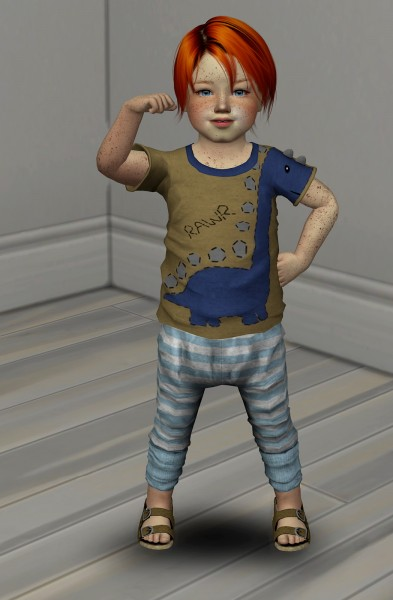 Coupure Electrique: Wings ON0105 hair retextured   kids and toddlers version for Sims 4