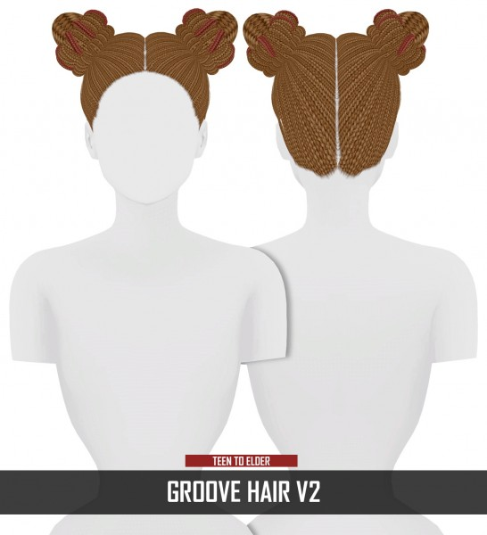 Coupure Electrique: Groove hair v2 for Sims 4