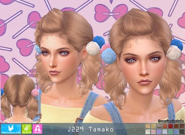 NewSea: J229 Tamako Hair for Sims 4