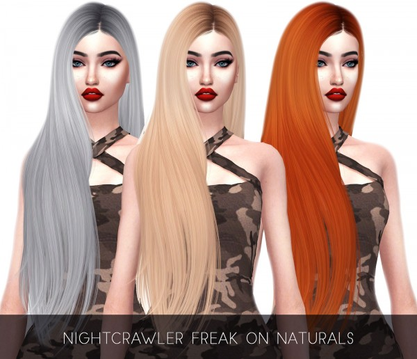 Kenzar Sims: Nightcrawler`s Freak On Naturals hair retextured for Sims 4