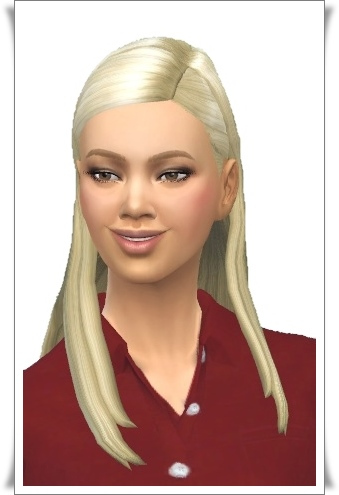 Birksches sims blog: Kate's Straight Hair for Sims 4