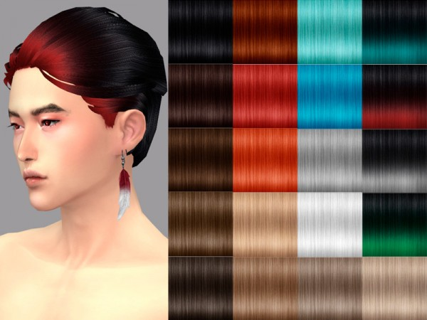 The Sims Resource: Aquarius hair by WistfulCastle for Sims 4