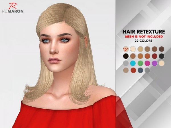 The Sims Resource: Jenna Hair Retextured by Remaron for Sims 4