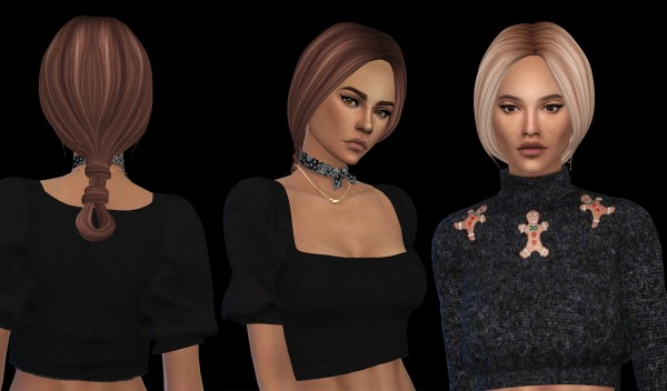 Leo 4 Sims: Riley hair recolored v2 for Sims 4