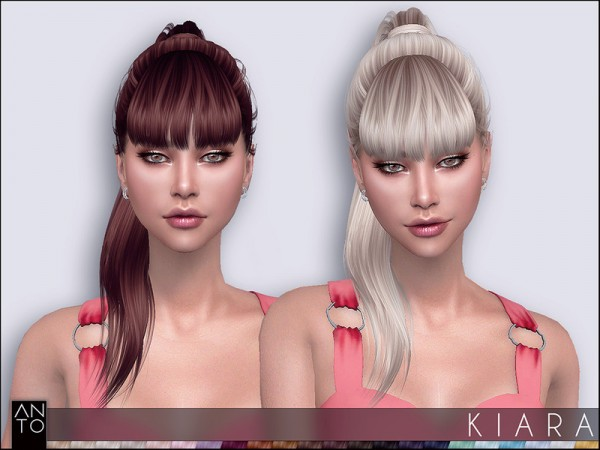 The Sims Resource: Kiara hair by Anto for Sims 4