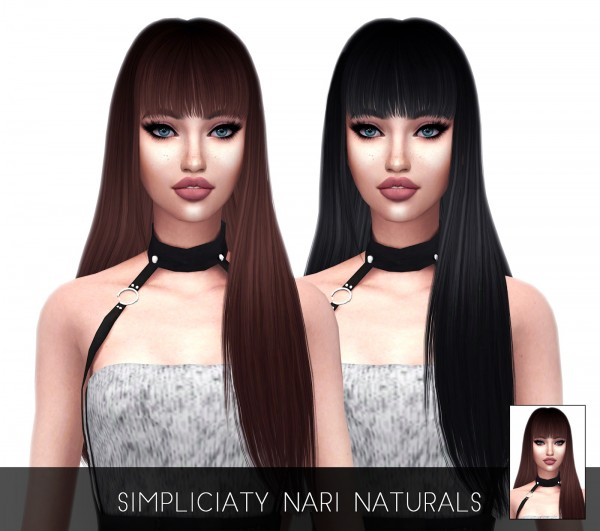 Kenzar Sims: Nari Hair Naturals Retextured for Sims 4