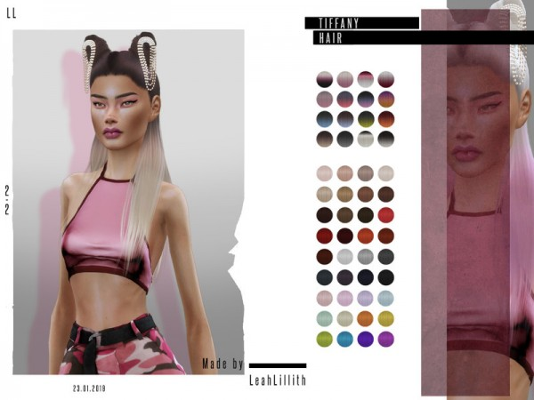 The Sims Resource: Tiffany Hair by Leah Lillith for Sims 4