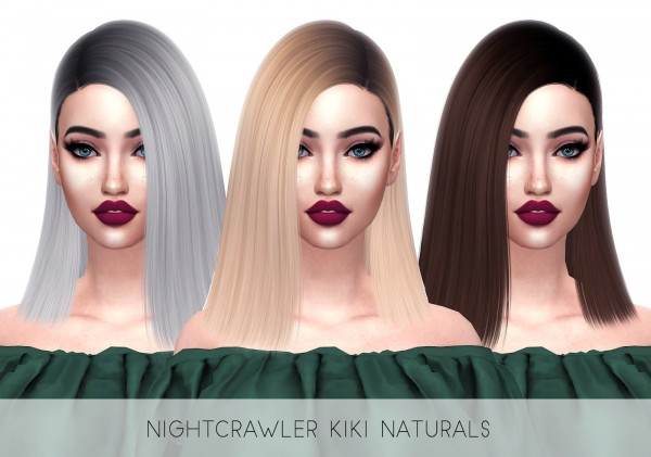 Kenzar Sims: Nightcrawler`s Kiki Naturals hair retextured for Sims 4