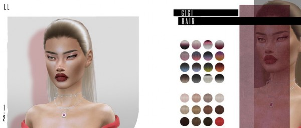 The Sims Resource: Gigi Hair by Leah Lillith for Sims 4