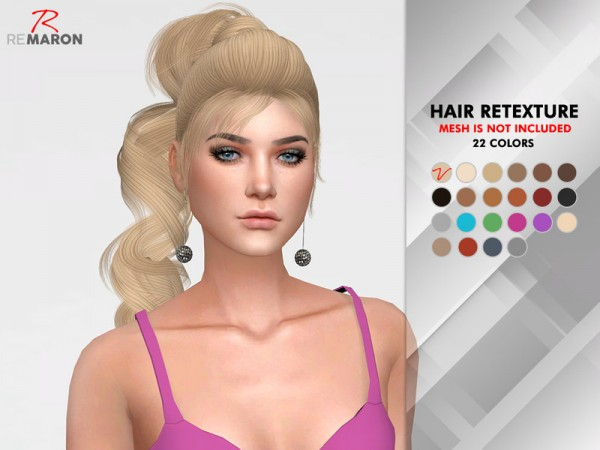 The Sims Resource: OE 1224 F Hair Retextured by remaron for Sims 4