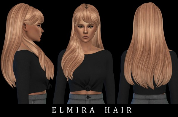 Leo 4 Sims: Elmira Hair for Sims 4