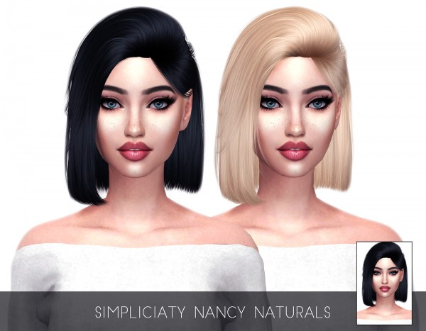 Kenzar Sims: Simpliciaty`s Nanci hair retextured for Sims 4