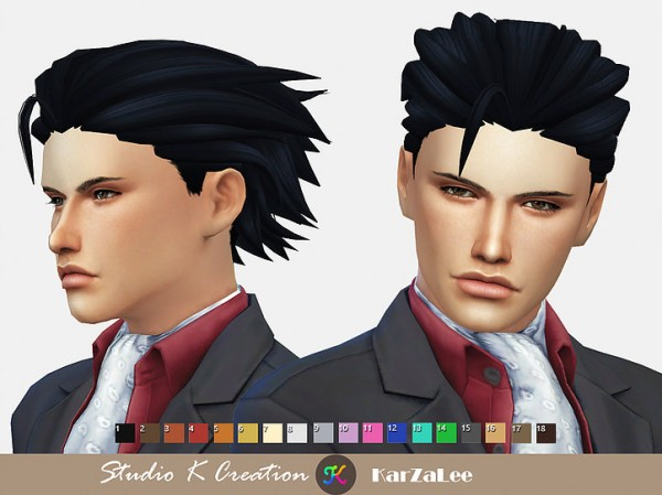 Studio K Creation: Animate hair 103 Phoenix Wright for Sims 4