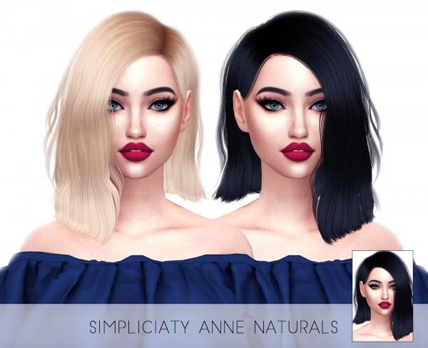 Kenzar Sims: Simpliciaty`s Anne Naturals hair retextured for Sims 4