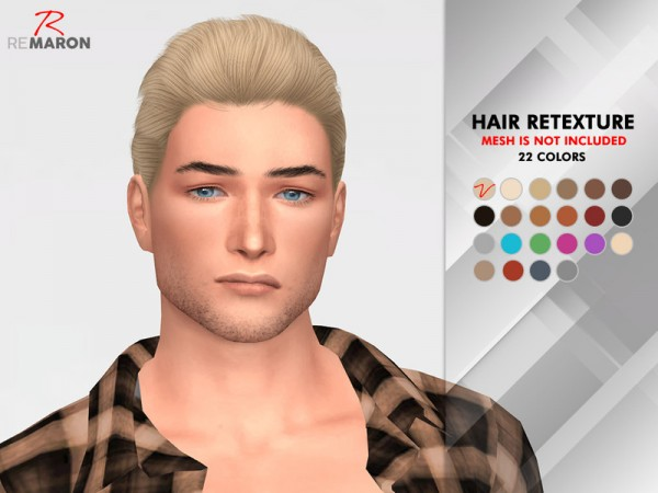 The Sims Resource: Wings OE1024 hair retextured by remaron for Sims 4