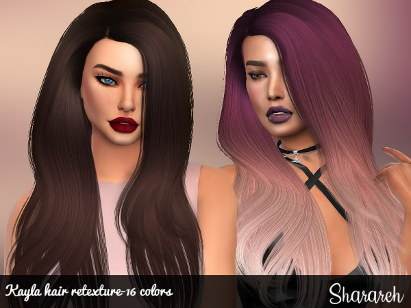 The Sims Resource: Kayla hair retextured by Sharareh for Sims 4
