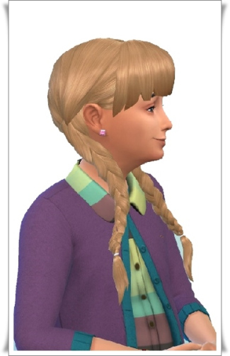 Birksches sims blog: Pauline's Long Pigs hair for Sims 4