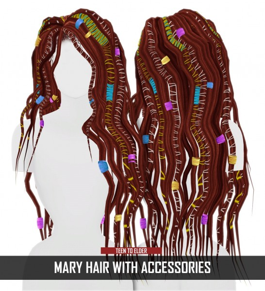 Coupure Electrique: Mary Hair for Sims 4