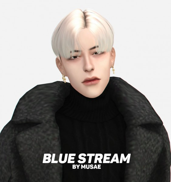 Effie: Blue Stream Hair for Sims 4