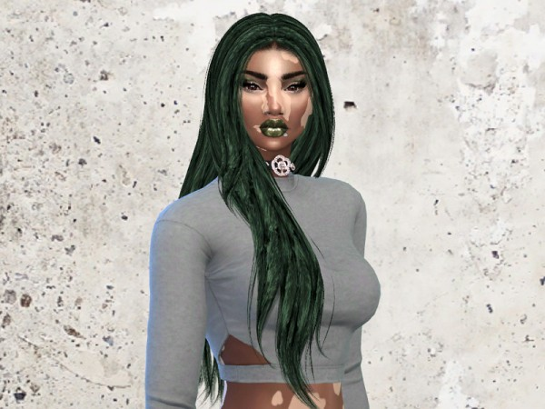 The Sims Resource: Let Loose Hair Recolored by  Teenageeaglerunner Select Artist for Sims 4