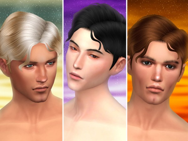 The Sims Resource: Gentle   male hair by WistfulCastle for Sims 4