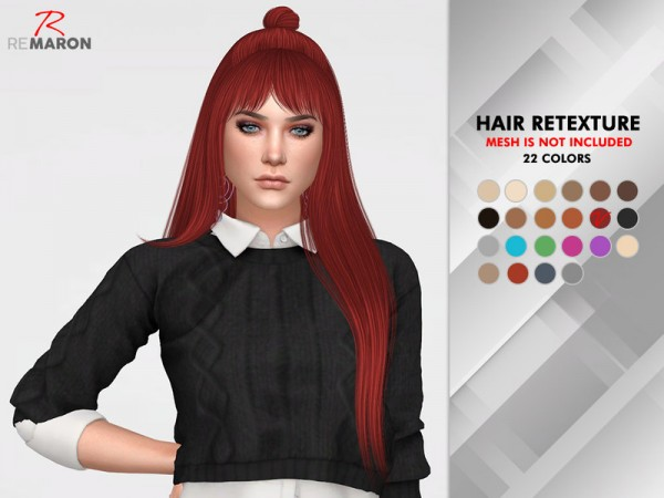 The Sims Resource: Cranberry Hair Retextured by remaron for Sims 4