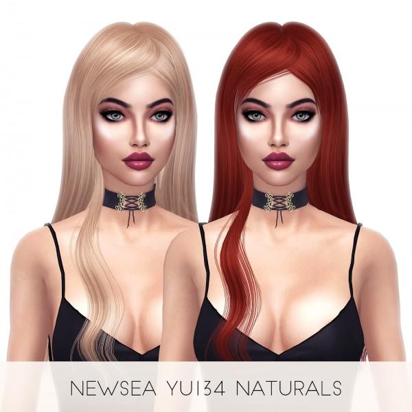 Kenzar Sims: YU134 Naturals Hair Retextured for Sims 4