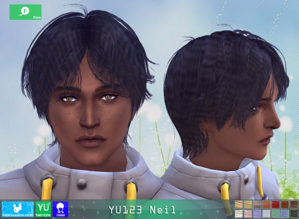 NewSea: YU123 Nail Hair for Sims 4