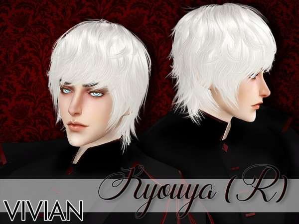 The Sims Resource: Hair Kyouya by VivianDang for Sims 4