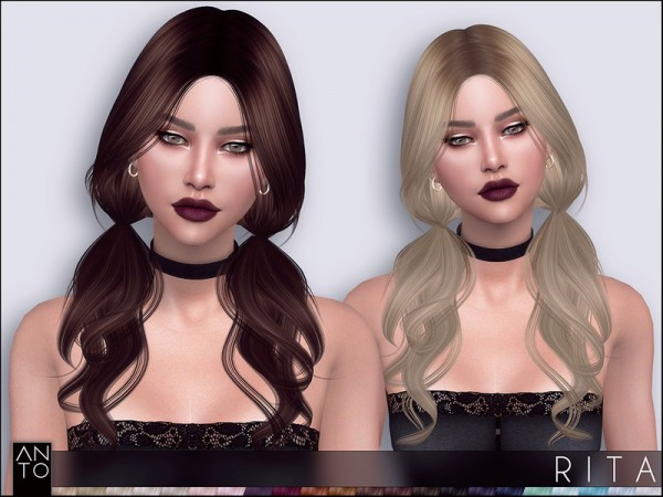 The Sims Resource: Rita Hair by Anto for Sims 4