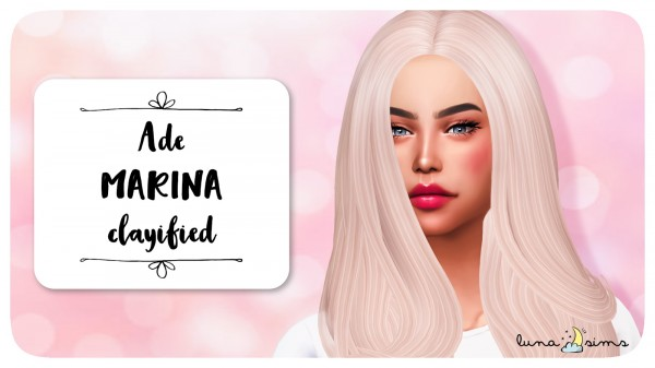 Luna Sims: Ade darma`s Marina hair retextured for Sims 4