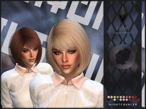 The Sims Resource: Dove Hair by Nightcrawler for Sims 4