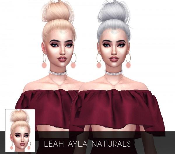 Kenzar Sims: Ayla Hair Naturals retextured for Sims 4
