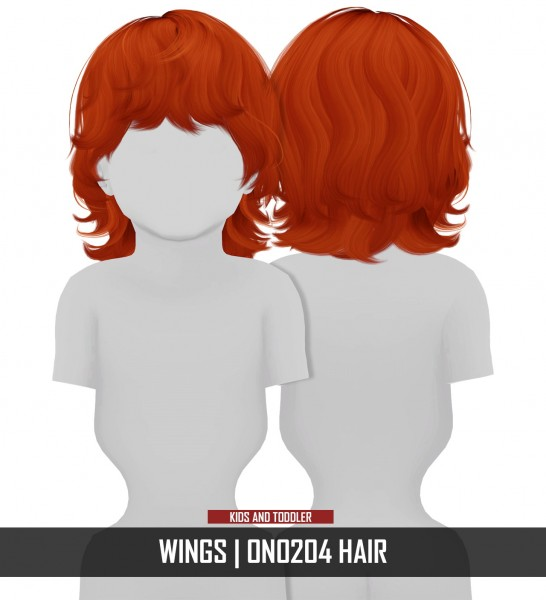 Coupure Electrique: Wings ON0204 hair retextured   kids and toddlers version for Sims 4