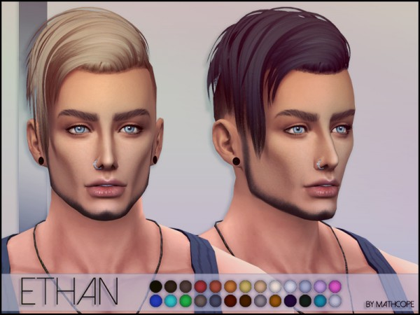 The Sims Resource: Ethan Hair by Mathcope for Sims 4
