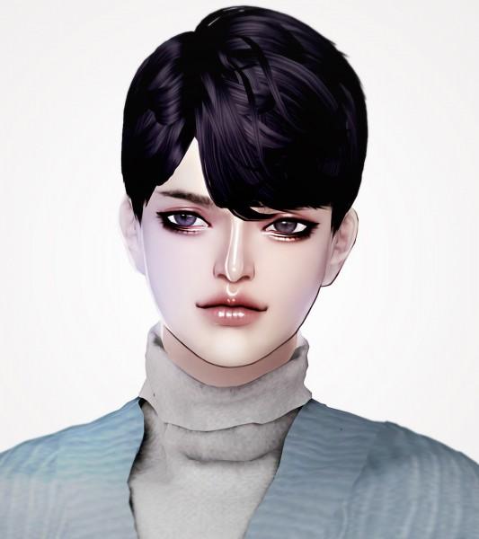Kim Simjo: 39 Chevalier hair for Sims 4